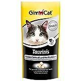 GimCat Taurinis, Katzensnack mit Taurin fördert Sehkraft und Herzfunktion, Katzen Tabs als gesunde Belohnung, 3er Pack (3 x 40 g)