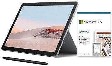 "Microsoft Surface Go 2 10.5"" Intel Pentium Gold 4GB RAM 64GB eMMC Platinum + Surface Pen Charcoal + Microsoft 365 Personal..."