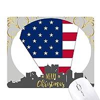 ネバダ州の地図の星アメリカ tripes旗の形 クリスマスイブのゴムマウスパッド