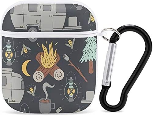 ¡Estuche para Airpods 1 y 2, Libros! Funda Protectora Dura Airpods Compatible con Llavero para niños, Adolescentes, niños, niñas, Camping Retro RV