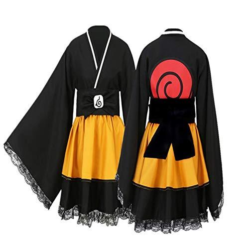 Uchiha Itachi Lolita Dresses Kimono Women kids girl Dress Uzumaki Naruto kimono Cosplay Anime Naruto Akatsuki Costume