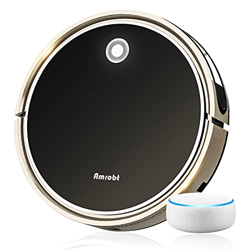 Robot Vacuum and Mop Cleaner, Automatic Smart Robotic Sweeping & Mopping, 1600Pa Suction, Self Charging, Daily Schedule, GYRO Navigation, 60db Quiet, Remote-APP-Alexa Control