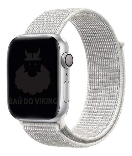 Pulseira Nylon Loop Esportiva, compatível com Apple Watch (Branca, 42mm)