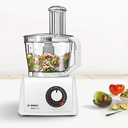 Bosch MC812W501 MultiTalent - Robot da Cucina Compatto, 1000 W, Ciotola XXL 3,9 l, Bianco/Bianco