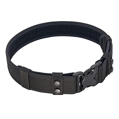Dotacty Duty Belt for Law Enforcement Police Security Correctional Officer 2-Inch Utility Belt Nylon Web Work Belt Duty Gear Accessories (Black, Medium)