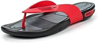 Pool Surfer Thong Flip Flops, Oxide Grey/Lava Red