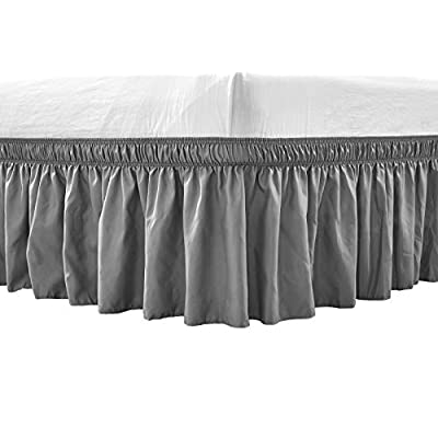 Amazon - Save 40%: RIMELA Bed Skirt Wrap Around Elastic Dust Ruffles Solid Color Wrinkle and F…
