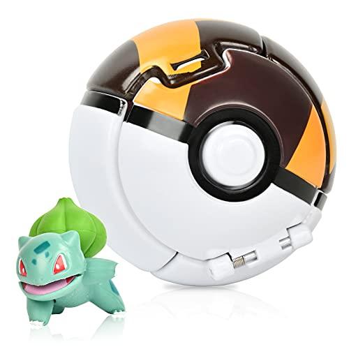 Niumowang Figurina Poke Ball, Throw 'N Pop Pokeball Figure, Plastic Anime Poké Balls Giocattolo per Feste per Bambini, Regalo di Compleanno.