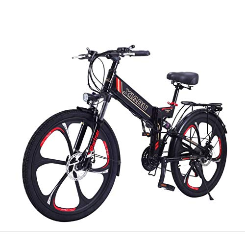 Bicicletas Bicicleta De Montaña Eléctrica Plegable De 34 Pulgadas Bicicleta De Montaña Eléctrica Con 48 V Se Puede Mover Batería De Gran Capacidad 8Ah Con Freno De Disco Doble Marco De Aleación De Alu