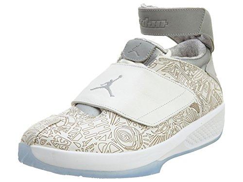 Nike Air Jordan XX Laser, Zapatillas de Balonmano Hombre, Blanco/Plateado (White/Metallic Silver-White), 41