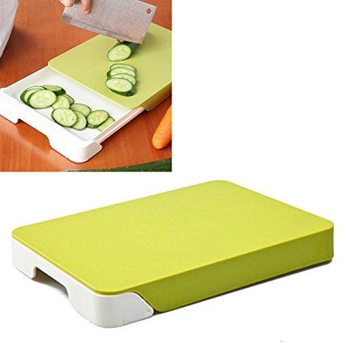 BRIZON Chopping Board, Chop & Clear Cutting Board with one...