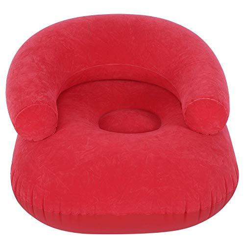 Ladieshow aufblasbarer Flocking Sofa Stuhl mit Armlehne für Wohnzimmer Schlafzimmer Outdoor Möbel Zubehör