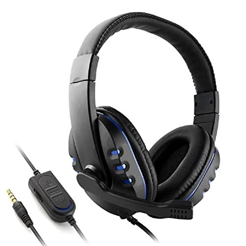 xllLU Auriculares de juego Deep Bass Stereo Surround Auriculares 3.5mm Micrófono con...