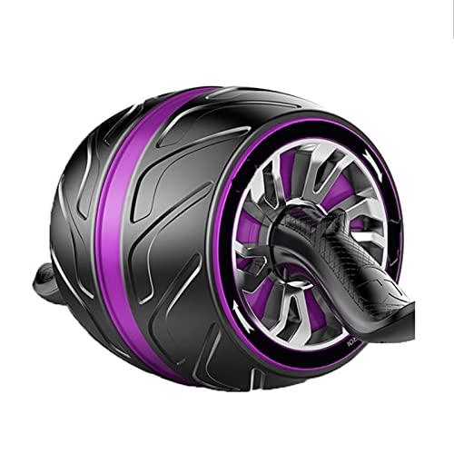 LYQY, AB Roller, AB-Radwalze, Automatische Rebound, kein Geräusch, mit Matten-Trainingsräder für Home-Gym-Ausrüstung Training Machin-Purple