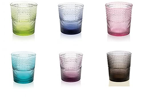 Ivv Mod.Speedy - Juego de 6vasos, 28cl, colores surtidos, cristal soplado