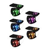N / N 50 PC Adultos De_𝙈𝙖𝙨𝙘𝙖𝙧𝙞𝙡𝙡𝙖𝙨 D_esechable 1 paquete de 5 colores Estampado mariposas De Negro Moda para Cenas Al Aire Libre Adecuado fiestas