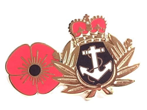 Royal Navy Poppy Lapel Pin Badge Remembrance