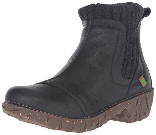 El Naturalista Damen NE23 Soft Grain Yggdrasil Chelsea Boots, Schwarz (BLACK N01), 37