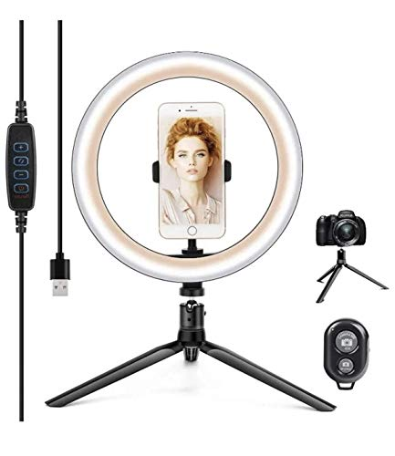 "Ring Light with Tripod Stand, SONATA 10"" LED Selfie Makeup Light"