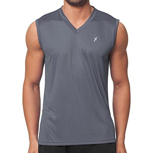 CFLEX Herren Sport Shirt Fitness Muscle-Shirt Sportswear Collection - Grau XL