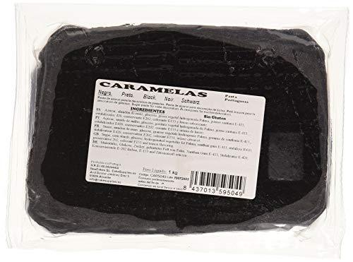 Caramelas Pasta Fondant Portuguesa Negra: Fácil de Usar, Flexible, para Repostería Casera y Profesional, Sin Gluten, 1kg