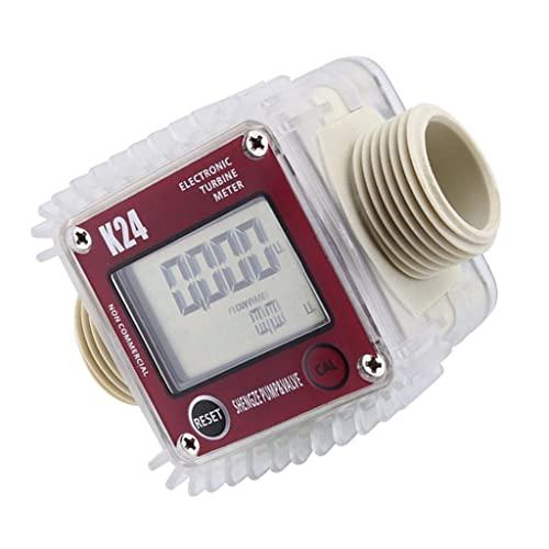 B Blesiya Aquamètre Compteur d'Eau Débitmètre K24 Lcd électronique - Size B