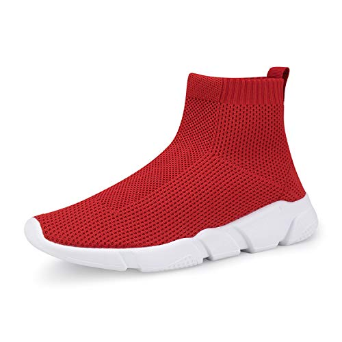 WXQ Women's Athletic Walking Shoes Lightweight Fashion Sneakers Breathable Running Shoes Red 38