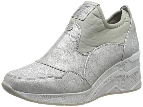 Mustang Damen 1319-401-21 Slip On Sneaker, Silber (Silber 21), 39 EU