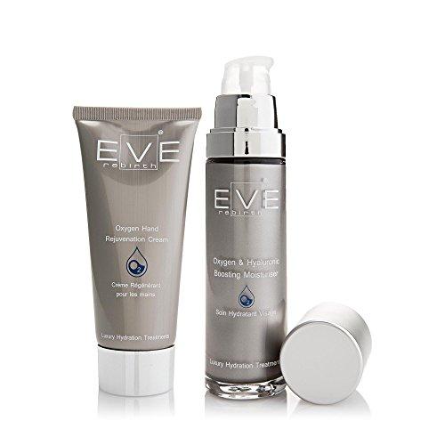 EVE REBIRTH Kit : Soin Hydratant Visage Oxygène, 50 ml + Crème Régénérante pour Mains Oxygène, 100 ml