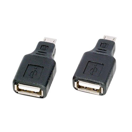 (ノーブランド品) USB(メス)⇒micro USB(オス) 変換アダプタ 2個セット