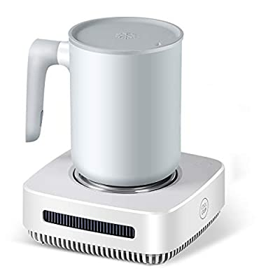 nicelucky Cup Cooler-Coffee Warmer Desktop 2IN1, 131? - 46? Coffee Tea Drinks Mug Warmer Cooler Desktop Heating and Cooling Beverage Plate For Water,Milk,Beer,Cocoa (white)
