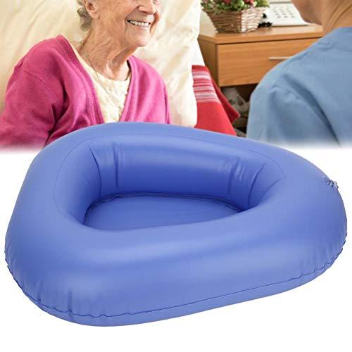 Creacom Aufblasbare tragbare Faltbare Töpfchensitz Luft Aufblasbett Pfannen Aufblasbare Hocker Toilette Krankenpflegetoilette für Heimkrankenhaus ältere bettlägerige