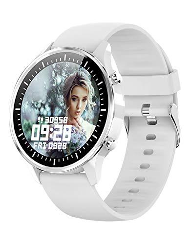 Smartwatch Damen Fitness Uhr mit Blutdruckmessung Pulsuhr Sport Schrittzähler Wasserdicht Kalorienverbrauch Tracker Armbanduhr Smartwatch IOS Android Herren Schwarz