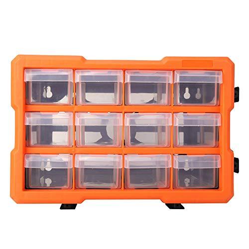 iFCOW Hardware Schubladen Organizer 12 Gitter Schubladen Hardware Kleinteile Aufbewahrungsbox Lagerschrank Organizer Robust Und Langlebig im Gebrauch
