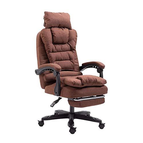 Zachte bureaustoel, dikke High Back Reclining gamestoel, verstelbare kantelbare ergonomische Executive rolstoel met Lumbar-ondersteuning voor computerbureau