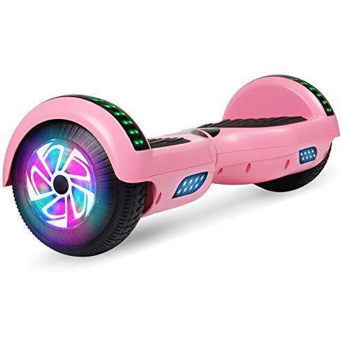 "Huanhui Hoverboard, 6.5\"" Self Balancing Scooter mit Bluetooth Elektro Scooter LED Lights, Elektro Skateboard für Kinder (rosa-Bluetooth)"