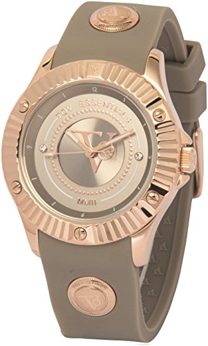 TOV Essentials dameshorloge met siliconen armband/grijs 1681.048.004
