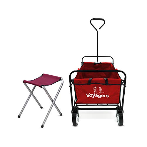 Folding Wagon Collapsible  Sports Foldable Cart with Wheels Utility Wagons and Carts  Rolling Beach Cart  Outdoor Camping Wagon Heavy Duty  Portable Chairs Lightweight Foldable