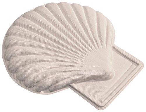 ridap2 Shell Poduszka Poduszka Poduszka pod kark do miseczki, biała, 32 x 30 x 3 cm