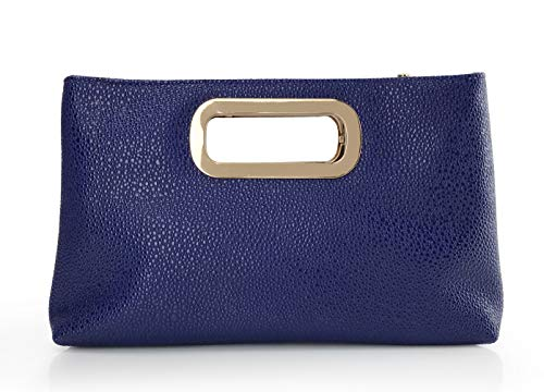patent leather clutch purse with handle