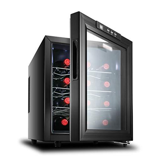 GXFC Wijnkoeler/drankkoeler, mini-thermo-elektrische wijnkoelkast, 10-18 °C/dubbele glasdeur, constante temperatuur, constante luchtvochtigheid