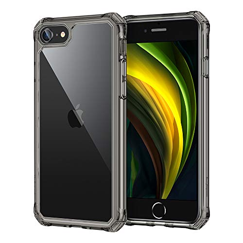 ESR Air Armor Designed for iPhone SE 2020 Case/iPhone 8 Case [Shock-Absorbing] [Scratch-Resistant] [Military Grade Protection] Hard Polycarbonate + Flexible Polymer Frame, for iPhone SE 2020/8, Black