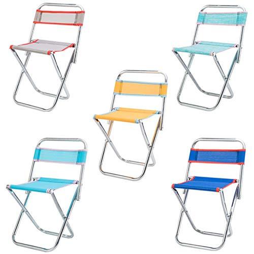 ORTUH Taburete plegable portátil al aire libre respaldo Pesca silla ligera silla de acero inoxidable para la pesca camping senderismo picnic barbacoa
