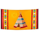 Boland 44103 - Bandiera indiana, 1 pezzo, dimensioni 90 x 150 cm, tenda Tipi, decorazione ...