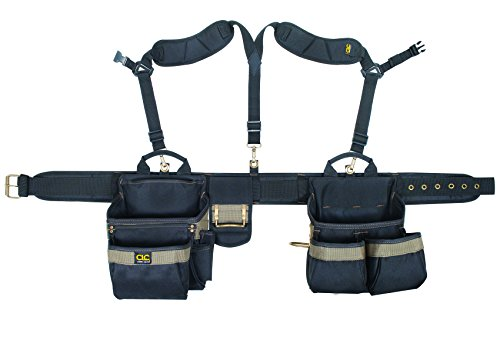 CLC Custom Leathercraft 1614 20 Pocket, Heavy Duty Framers 5 Piece Comfortlift Combo Tool Belt...
