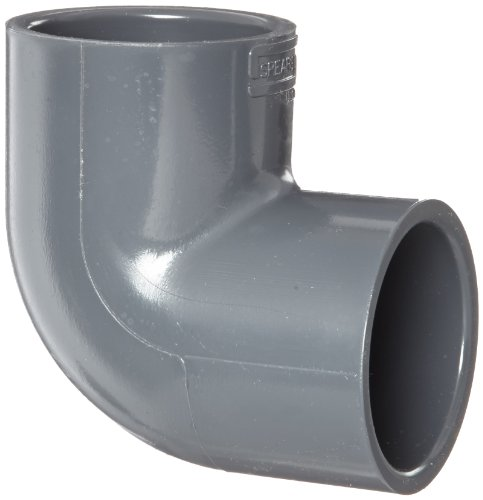 Spears 806 Series PVC Pipe Fitting, 90 Degree Elbow, Schedule 80, 2