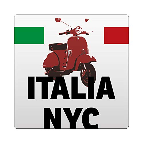 Makoroni - Italia NYC Italy Italian Des#4 Ceramic Tile Trivet 4.25x4.25 inc