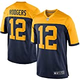 HFJLL NFL Football Jersey Green Bay Packers 12# Camisetas,Yellow,M