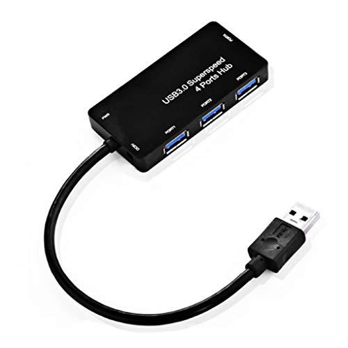Preisvergleich Produktbild Sunlera 4 Port External USB Hub Tablet PC Computer Telefon Hochgeschwindigkeits-Lade Sync Datenübertragung Splitter