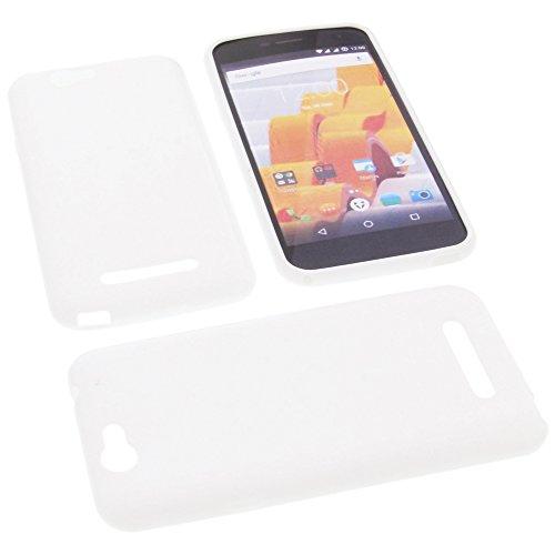 foto-kontor Tasche für Wileyfox Spark Spark Plus Gummi TPU Schutz Handytasche weiß